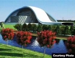 Проект нового здания парламента Грузии в Кутаиси