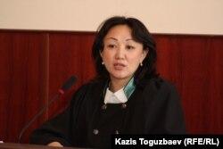 Инжу Алихан, судья апелляционной коллегии Алматинского городского суда. Алматы, 18 апреля 2014 года.