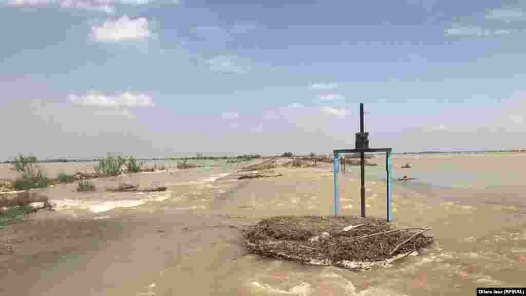 Жергілікті биліктің хабарлауынша, 3 мың гектар егістік жерді су шайып кеткен. Билік диқандардың шығынын өтеуге көмектесетінін айтты. 2 мамыр 2020 жыл.