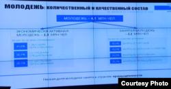Жастардың «сапалық құрамы» туралы кесте. (Денсаулық сақтау және әлеуметтік даму министрлігі есебінен скриншот). Астана, 10 қаңтар 2017 жыл.