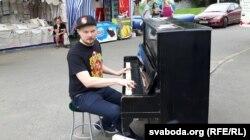 """Пётра Клюеў і акцыя """"Арт-фано"""""""
