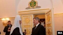 Претседателот Ѓорге Иванов се сретна со Патријархот на Руската православна црква г.г. Кирил во Москва. 09.02.2014.