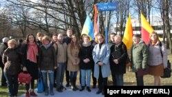 Відкриття скверу Василя Стуса у Варшаві. 15 березня 2017 року