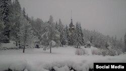 România sub zăpezi, 20 aprilie 2017