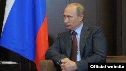 Ռուսաստան -- Նախագահ Վլադիմիր Պուտինը Ադրբեջանի նախագահի հետ հանդիպման ժամանակ, Սոչի, 9-ը օգոստոսի, 2014թ․