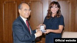 Azerbaijan -- Mehriban Aliyeva, first lady at the UNIESCO, undated