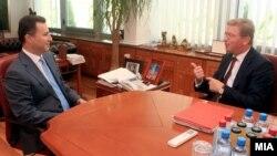 Eврокомесарот за проширување Штефан Фуле се сретна со премиерот Никола Груевски во Скопје.