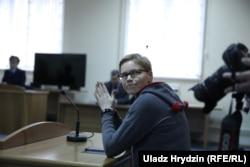 Марына Золатава падчас судавага разгляду справы БелТА, 4 сакавіка 2019