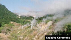 "Долина гейзеров. Wikipedia. <a href = ""http://en.wikipedia.org/wiki/Image:Valley_of_the_Geysers.jpg"" target=_blank>Creative Commons</a>"