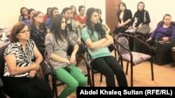 جانب من محاضرة للتثقيف ضد انتحار النساء في دهوك