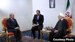 Министр иностранных дел Узбекистана Абдулазиз Камилов (слева) и президент Ирана Хасан Рухани. Тегеран, 10 февраля 2018 года. Фото: president.ir.