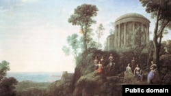 "Клод Лоррен. ""Аполлон и музы на горе Гелион"""