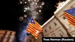 پرچم استقلال طلبان کاتالونیا