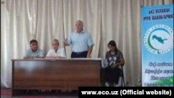 Заседание Экологической партии Узбекистана.