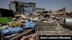 Разрушенный родильный дом в Мосуле, Ирак, 15 августа 2017 года