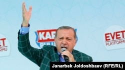 Президент Ердоган на референдумі 20 квітня 2017