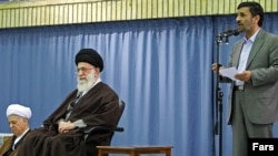 Despite predictions of their impending fall, President Mahmud Ahmadinejad (right) and Supreme Leader Ayatollah Ali Khamenei have remained firmly in the driver's seat in Iran.