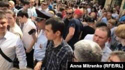 "Участники акции ""Он нам не царь"" в Краснодаре \ The participants of rally He is not our tsar in Krasnodar"