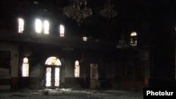 Syria -- Armenian church St. Gevorg reportedly burned down in Aleppo, 29Oct2012