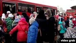 Казанда автобус тукталышы