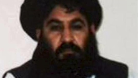 Mullah Akhtar Mohammad Mansur is seen in this undated handout photograph by the Taliban.