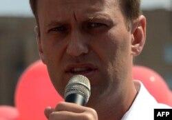 Алексей Навальный сайлаушылар алдында сөйлеп тұр. Мәскеу, 8 тамыз 2013 жыл.