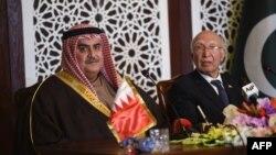 وزیر خارجه بحرین (چپ)