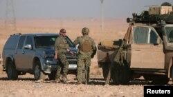 عکسی از نیروهای آمریکایی در سوریه؛ شمال رقه، نوامبر ۲۰۱۶