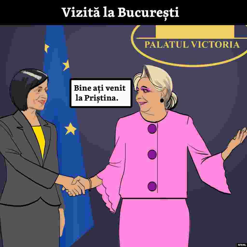 Maia Sandu și-a început mandatul energic, făcând și vizite pline de semnificație în străinătate. Prima - la București (unde gazda se tot ține de glume).
