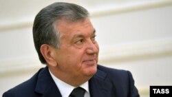 Өзбекстан президенті міндетін атқарушы Шавкат Мирзияев. Самарқанд, 6 қыркүйек 2016 жыл.