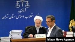 محمد موحد، قاضی پرونده بانک ملت، و علی دیواندری، مدیرعامل سابق بانک