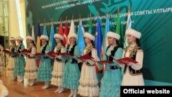 На открытии очередной конференци ТЮРКСОЙ. Уфа, 6 сентября 2012 года.