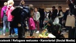 Pamje nga një kamp i refugjatëve në Gjermani