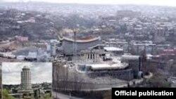 Вид на город Ереван.