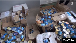 Armenia - Canned food found in a villa belonging to retired General Manvel Grigorian, 17 June 2018.