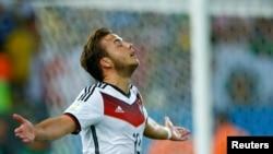 Лучший игрок финала чемпионата мира Марио Гётце