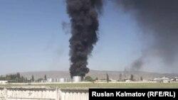 Пожар на нефтебазе в Джалал-Абаде. 10 мая 2019 года.