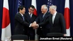 وزیران خارجه و دفاع آمریکا و ژاپن در واشینگتن.