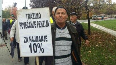 Jedan od protesta penzionera Federacije BiH u Sarajevu, arhivska fotografija