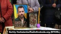 Під час поховання волонтера Артема Мірошниченка (1983–2019) з міста Бахмута Донецької області