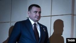 Исполняющий обязанности губернатора Тульской области России Алексей Дюмин. Тула, 4 февраля 2016 года.