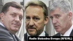 Милорад Додик, Бакир Изетбеговиќ и Драган Човиќ.