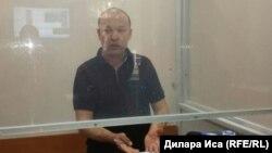 Гражданский активист Руслан Жанпеисов в суде по его делу. Шымкент, 28 сентября 2017 года.
