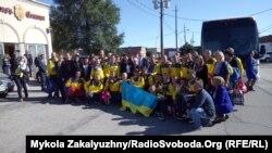 Українська громада Канади вітає збірну України. Торонто, 30 вересня 2017 року