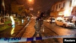 Стамбулдағы теракт болған аймақ. 6 қаңтар 2015 жыл.