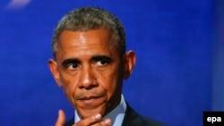 Barack Obama gjatë fjalimit të tij në Nismën Globale Clinton në Nju Jork