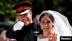 Harry herceg és felesége, Meghan Markel az esküvőjükön.