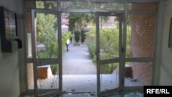 The Tehran University dorm after the attack by security forces on June 14.