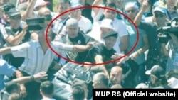 Napada na Vučića u Potočarima 11. jula 2015