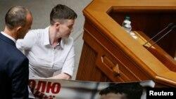 Надія Савченко, перший день у Верховній Раді, 31 травня 2016 року